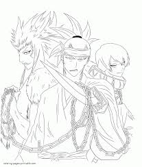 bleach colouring characters