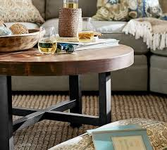 pottery barn griffin round coffee table griffin round coffee table pottery barn