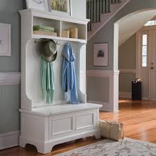 Living Room Storage Bench Living Room White Hall Tree With Storage Bench 4 Double Hooks 2
