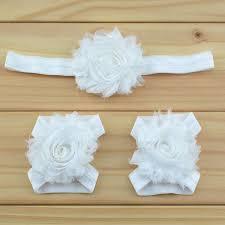 shabby chic flowers retail newborn baby headband shabby chic flowers baby barefoot