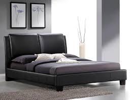 Black Leather Platform Bed Roggan Complete Brown Platform Bed In Faux Leather