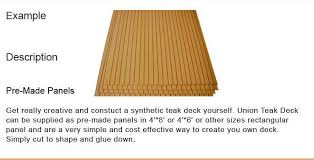 synthetic teak outside aluminum boat deck floor patterns shop for