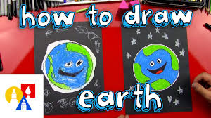 how to draw earth for young artists youtube