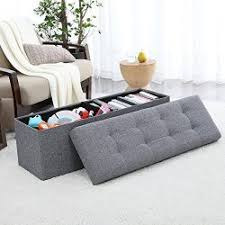 Kinfine Storage Ottoman Kinfine Large Upholstered Storage Ottoman Bench With Hinged Lid