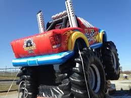 inflatable monster truck bouncer clowns4kids