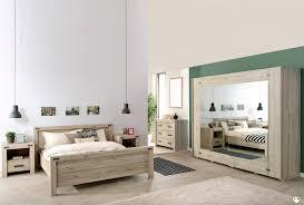 chambre a coucher en chene maybeline bois chene gris clair ensemble chambre a coucher