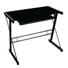 Black Computer Desk Furniture Black Computer Desk With Cpu Storage Metal Glass Free