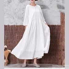 2017 fall white chinese butted linen casual dresses oversize vintage maxi dress3 2 jpg
