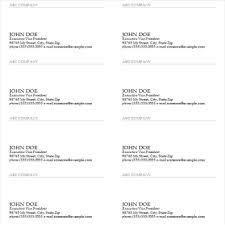 business card exle useful ms excel and word templates for business owners