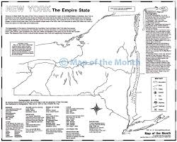 New York Map State by New York Map Maps For The Classroom