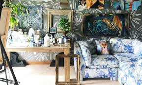 hand painted walls and artwork enriches a midwestern family u0027s home