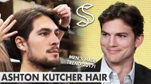 mens middle parting hairstyle ashton kutcher hairstyle men s hair fashion 2017 middle