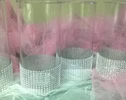 Bling Wrap For Vases Blue Wedding Centerpiece Wedding Vase Centerpiece Glitter Vase