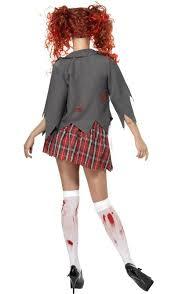 Girls Zombie Halloween Costume Zombie Costume Schoolgirl Zombie Costume
