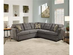 Simmons Upholstery Furniture Simmons Upholstery Velocity Velocity Slate 2 Piece Sectional