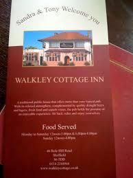 Cottage Inn Menu by The Walkley Cottage Menu Menu For The Walkley Cottage Sheffield
