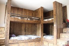 Rustic Bunk Bed Rustic Bedroom With Built In Bookshelf Bunk Beds In Durango