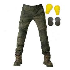 leather motorcycle pants men motorcycle riding pants denim jeans with protect pads equipment