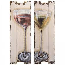 wandbilder esszimmer aperitif gläser holz wandbilder 2er wand dekoration küche