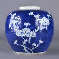 chinese blue u0026 white cracked ice ginger jar