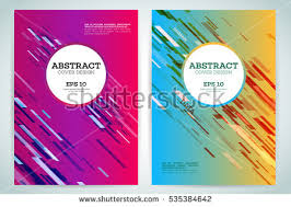 technology line brochure book cover template stock vector