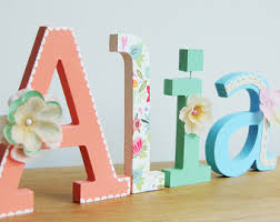 girly wall letters etsy