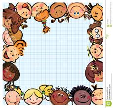 Kids Designs by Fun Kid U0027s Frame Kids Different Races Stock Images Image 15179814