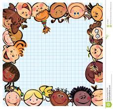 Kids Designs Fun Kid U0027s Frame Kids Different Races Stock Images Image 15179814