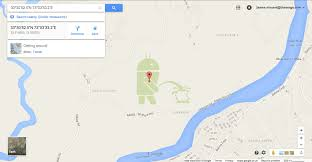 G00gle Map There U0027s An Android Robot On The Apple Logo In Google