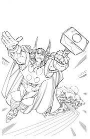 103 dessins de coloriage Thor à imprimer