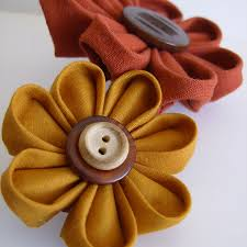 fabric flowers buy floral combo 2 fabric flowers on a barrette try handmade
