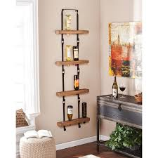 wall shelves at lowes furniture wall mounted wine racks for inspiring floating shelves