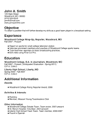 Sample Job Resume For College Student by Résumé Builder Myfuture