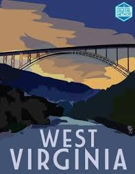 West Virginia travel art images Qo 39 nos travel poster by digitalmethodprints jpg