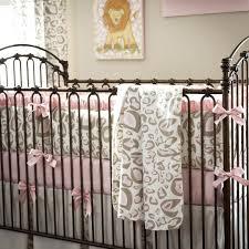 Cheetah Print Crib Bedding Set Lilac Nursery Bedding