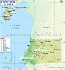 World Map With Equator Guinea Map