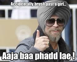 Accidentally Meme - accidentally brush past a girl aaja baa phadd lae happy