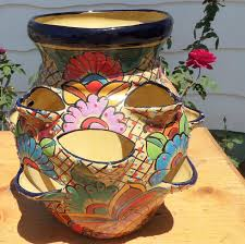 mexican style home decor decorations beautiful talavera planters succulents are a good