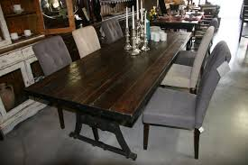 Reclaimed Wood Dining Room Furniture Reclaimed Wood Dining Table With Iron Base The Perfect Piece