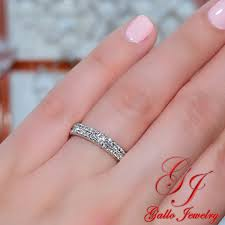 2 wedding bands wb01246 2 row diamond wedding band