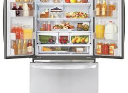door beautiful double door refrigerator true t 49g double glass