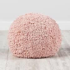 Pink Pouf Ottoman Shaggy Pouf Pink Shaggy Spot Cleaner And Ottomans