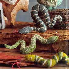 roost mexican spirits slithering serpent felt ornaments set of