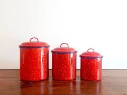 enamel kitchen canisters reserved for serah enamel canister set of 3 canister
