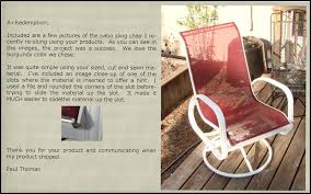Lawn Chair Fabric Material Customer Responses