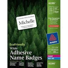 avery name badge holders