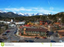 Estes Park Colorado Map by Downtown Estes Park Colorado In The Spring Editorial Image Image