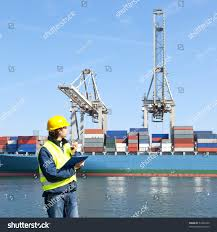 Radio Holland Usa Inc Harbor Dock Worker Talking On His Stock Photo 53952439 Shutterstock