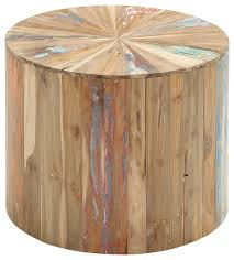 Wood Accent Table Rustic Organic Reclaimed Wood Accent Table Natural Farmhouse