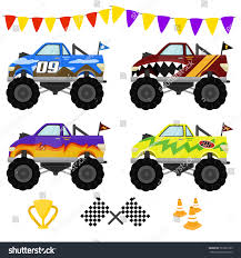 monster trucks video clips monster truck vector art design stock vector 587909189 shutterstock